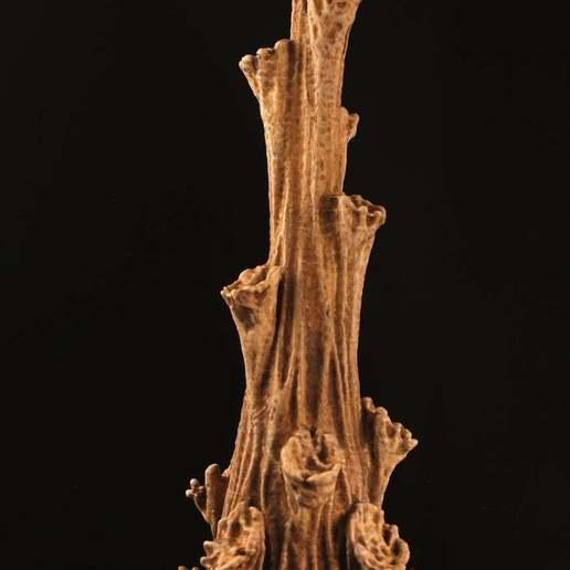 """dryland.jpg Download free STL file Tabletop plant: """"Rhododendron Nostril"""" (Alien Vegetation 26) • Design to 3D print, GrimGreeble"""