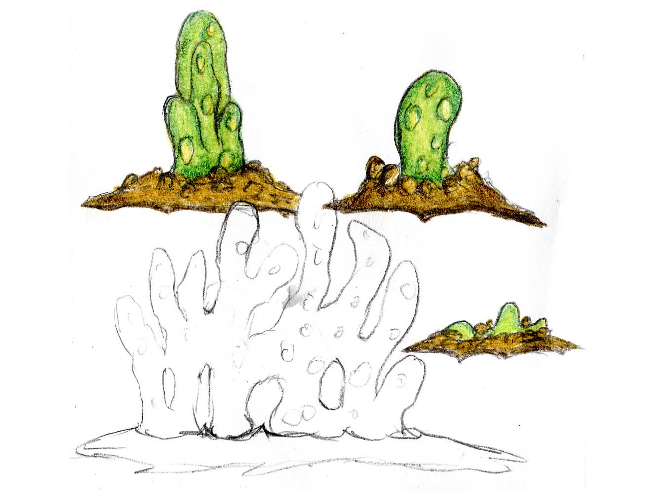 """blob04b.jpg Télécharger fichier STL gratuit Installation de table : """"Blob Plant"""" (Végétation exotique 13) • Objet pour impression 3D, GrimGreeble"""