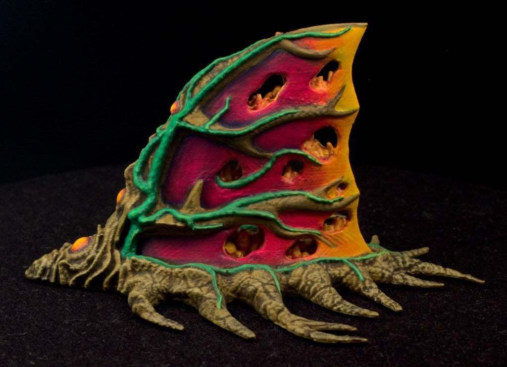 """IMG_6503.jpg Download free STL file Tabletop plant: """"Shark Plant"""" (Alien Vegetation 23) • 3D printer model, GrimGreeble"""