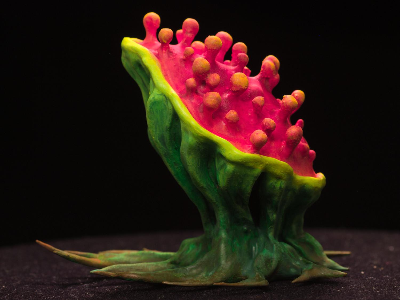 "tearingPlant02.jpg Download free STL file Tabletop plant: ""Tearing Plant"" (Alien Vegetation 14) • 3D print template, GrimGreeble"