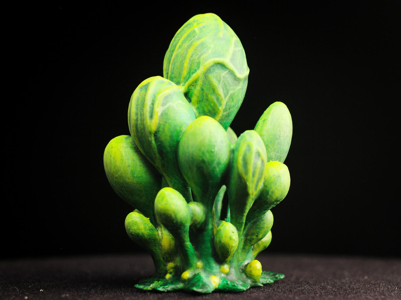 """blobs02.jpg Télécharger fichier STL gratuit Installation de table : """"Blob Crowd Plant"""" (Végétation exotique 15) • Objet pour imprimante 3D, GrimGreeble"""
