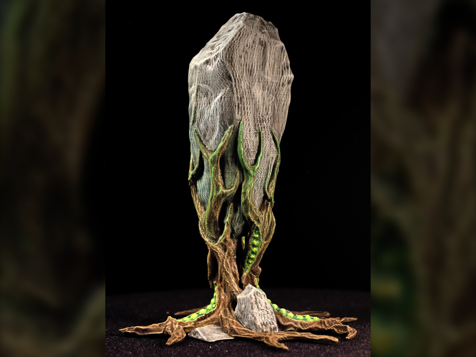 "rockclaw01.jpg Download free STL file Tabletop plant: ""Rock Claw 1"" (Alien Vegetation 18) • 3D print model, GrimGreeble"