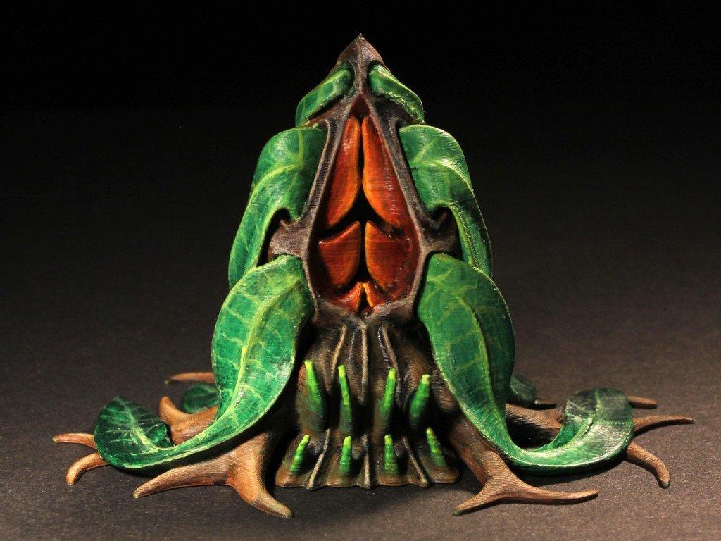 """f97350d1a5e15523563abb58c5b09474_display_large.jpg Télécharger fichier STL gratuit Installation de table : Végétation exotique 06 """"Welwitschia Ghost Plant"""" • Design à imprimer en 3D, GrimGreeble"""