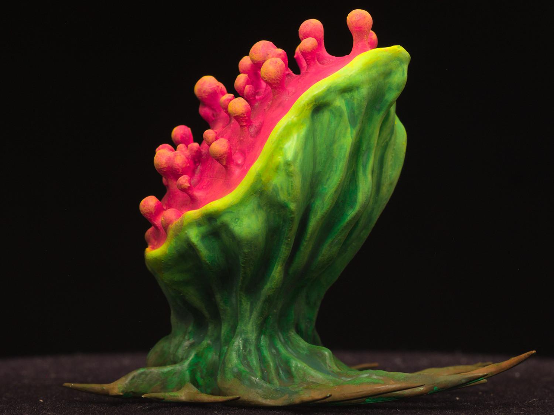 "tearingPlant04.jpg Download free STL file Tabletop plant: ""Tearing Plant"" (Alien Vegetation 14) • 3D print template, GrimGreeble"