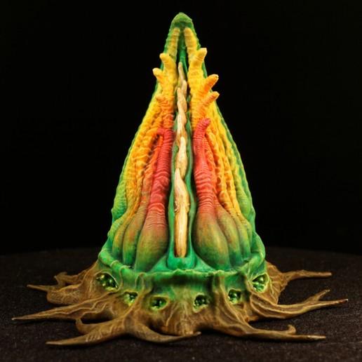 """IMG_6256_DxO.jpg Download free STL file Tabletop plant: """"Tentacular"""" (Alien Vegetation 19) • 3D printer model, GrimGreeble"""