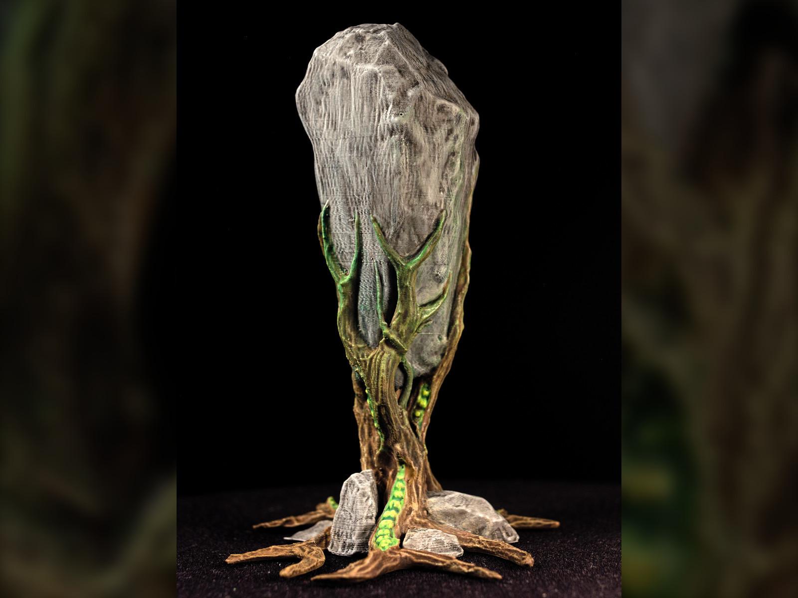 "rockclaw05.jpg Download free STL file Tabletop plant: ""Rock Claw 1"" (Alien Vegetation 18) • 3D print model, GrimGreeble"