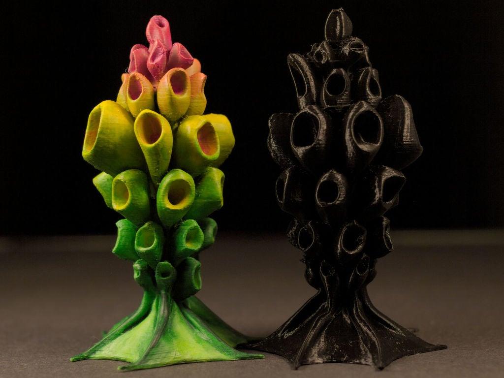 """957dbe08213d37aa9ab8a7e18b51f3e7_display_large.jpg Télécharger fichier STL gratuit Installation de table : """"HexaPlant"""" (Végétation exotique 10) • Modèle pour impression 3D, GrimGreeble"""