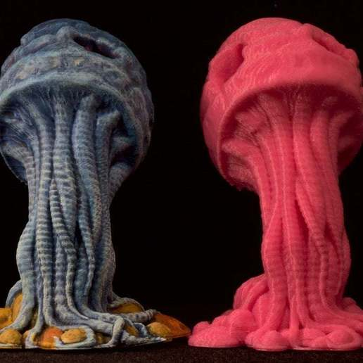 "IMG_6625.jpg Download free STL file Tabletop plant: ""Medusozoa Mushroom"" (Alien Vegetation 25) • 3D printer object, GrimGreeble"