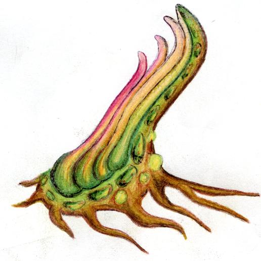"""colors.png Download free STL file Tabletop plant: """"Tentacular"""" (Alien Vegetation 19) • 3D printer model, GrimGreeble"""