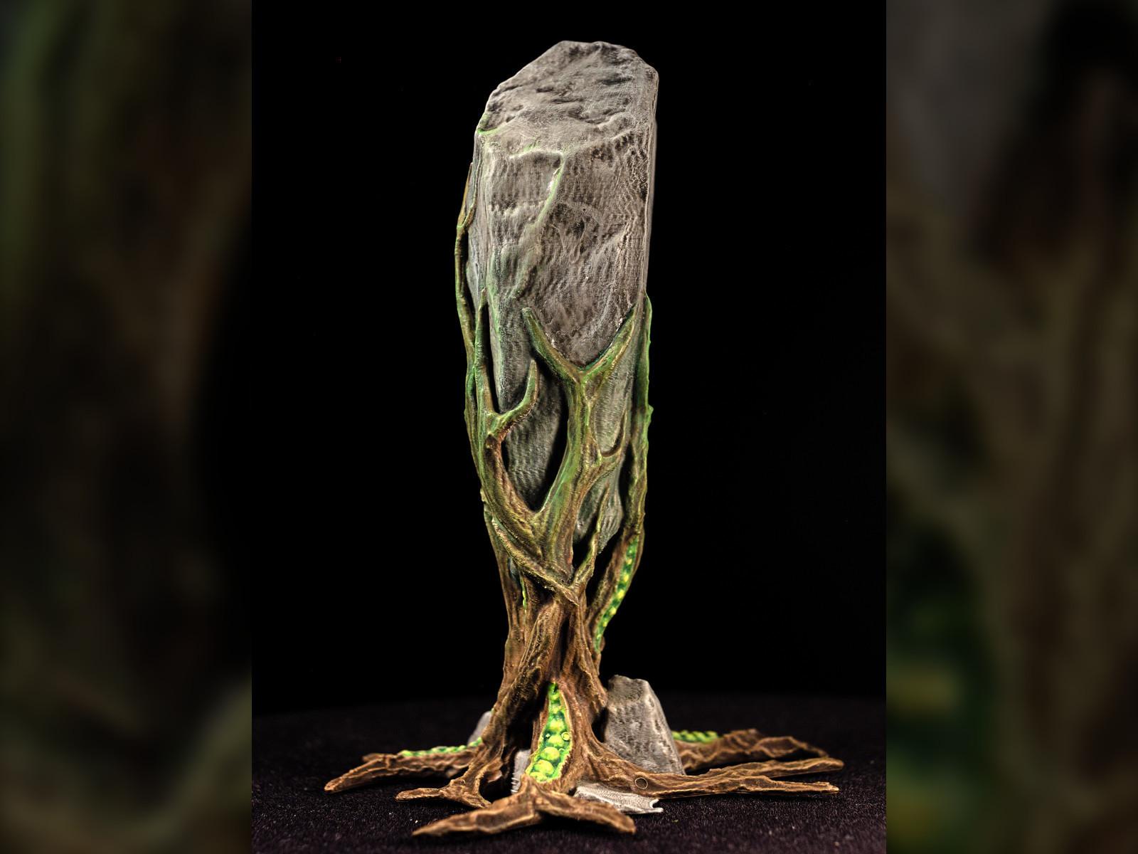 "rockclaw04.jpg Download free STL file Tabletop plant: ""Rock Claw 1"" (Alien Vegetation 18) • 3D print model, GrimGreeble"