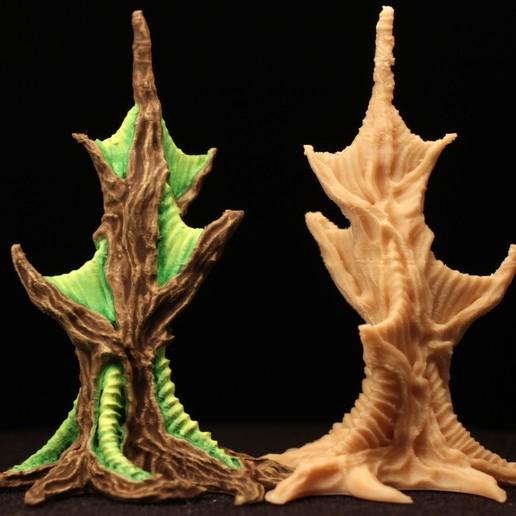 "webtree05.jpg Download free STL file Tabletop plant: ""Webbing Tree"" (Alien Vegetation 17) • 3D print template, GrimGreeble"