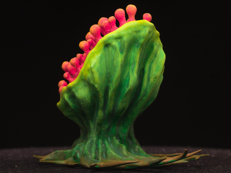 "tearingPlant03.jpg Download free STL file Tabletop plant: ""Tearing Plant"" (Alien Vegetation 14) • 3D print template, GrimGreeble"