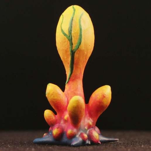 "mini02_image02.jpg Download free STL file Tabletop plant: ""Blob Crowd Plant III"" (Alien Vegetation 22) • 3D printing template, GrimGreeble"