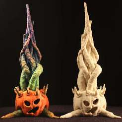 "IMG_7571_klein.jpg Download free STL file Tabletop plant: ""Halloween 2020"" (Alien Vegetation 28) • 3D printable template, GrimGreeble"