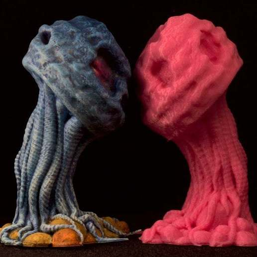 "IMG_6624.jpg Download free STL file Tabletop plant: ""Medusozoa Mushroom"" (Alien Vegetation 25) • 3D printer object, GrimGreeble"