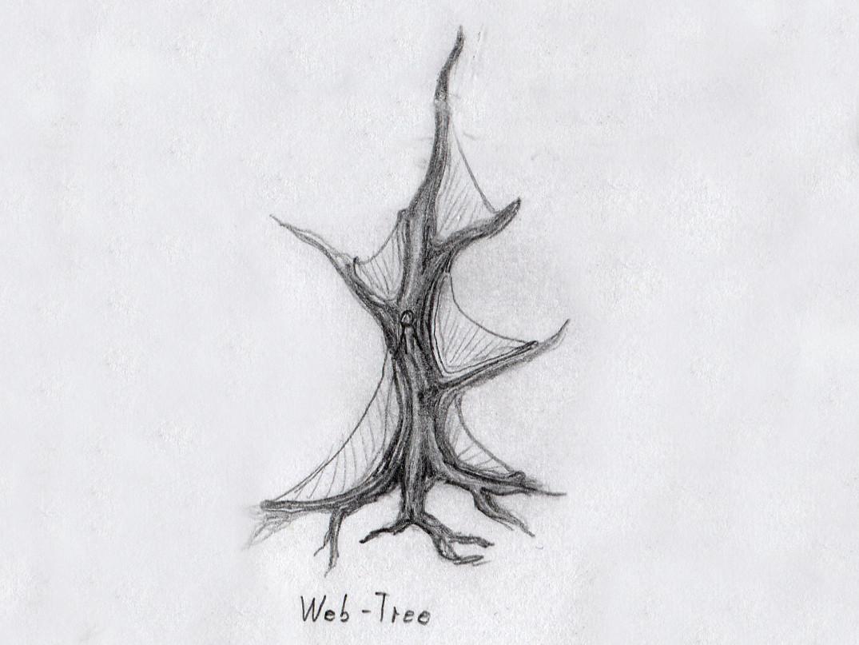"scribble.jpg Download free STL file Tabletop plant: ""Webbing Tree"" (Alien Vegetation 17) • 3D print template, GrimGreeble"