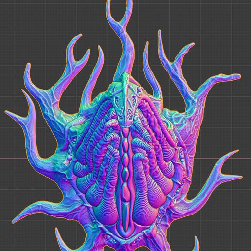 """blender_top.png Download free STL file Tabletop plant: """"Tentacular"""" (Alien Vegetation 19) • 3D printer model, GrimGreeble"""