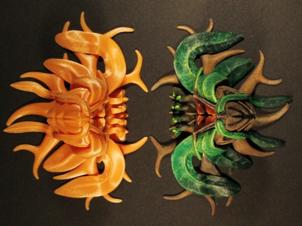 "3d992d135239141eb0849812ddd1f300_display_large.jpg Download free STL file Tabletop plant: Alien Vegetation 06 ""Welwitschia Ghost Plant"" • 3D printer model, GrimGreeble"