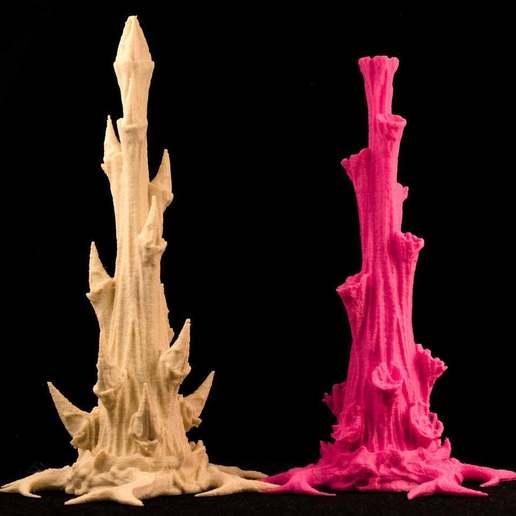 """pla.jpg Download free STL file Tabletop plant: """"Rhododendron Nostril"""" (Alien Vegetation 26) • Design to 3D print, GrimGreeble"""