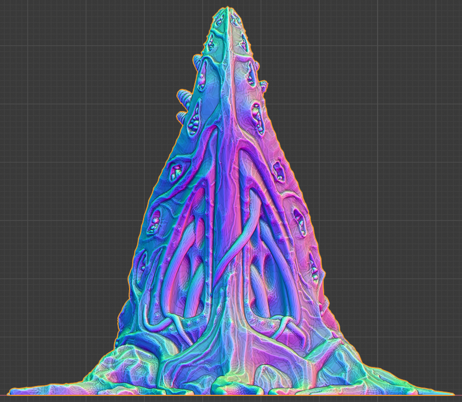 """blender_back.png Download free STL file Tabletop plant: """"Tentacular"""" (Alien Vegetation 19) • 3D printer model, GrimGreeble"""