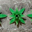 Free 3D printer model Tabletop plant: 5 Agaves Set (different number of leaves), GrimGreeble