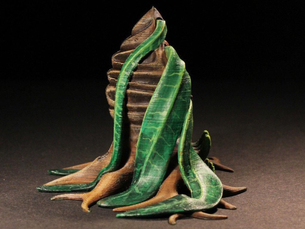 "dd7475fa6720d2b997152c3aac03842c_display_large.jpg Download free STL file Tabletop plant: Alien Vegetation 06 ""Welwitschia Ghost Plant"" • 3D printer model, GrimGreeble"