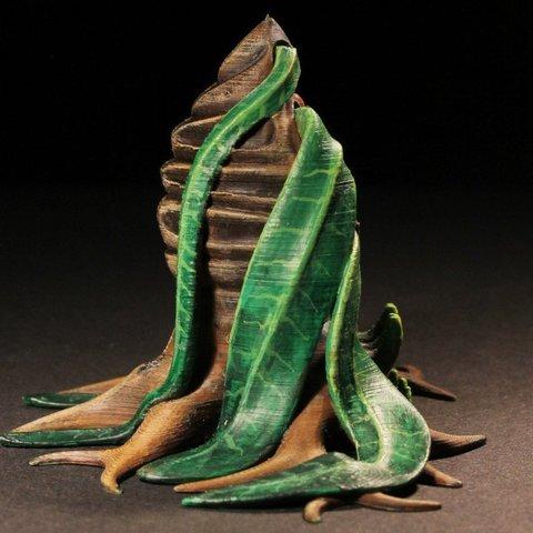 """dd7475fa6720d2b997152c3aac03842c_display_large.jpg Télécharger fichier STL gratuit Installation de table : Végétation exotique 06 """"Welwitschia Ghost Plant"""" • Design à imprimer en 3D, GrimGreeble"""