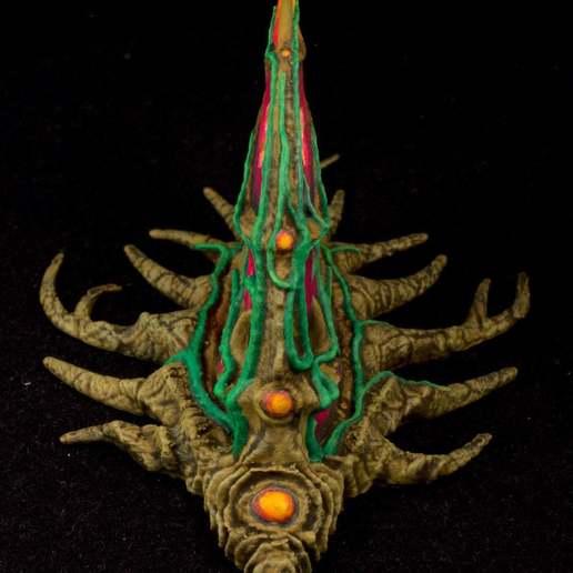 """IMG_6505.jpg Download free STL file Tabletop plant: """"Shark Plant"""" (Alien Vegetation 23) • 3D printer model, GrimGreeble"""