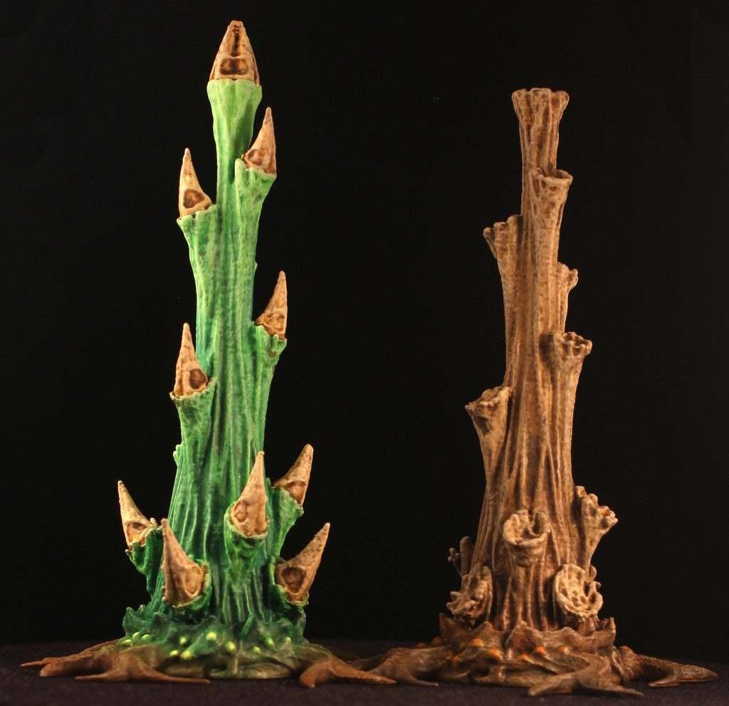 """both.jpg Download free STL file Tabletop plant: """"Rhododendron Nostril"""" (Alien Vegetation 26) • Design to 3D print, GrimGreeble"""