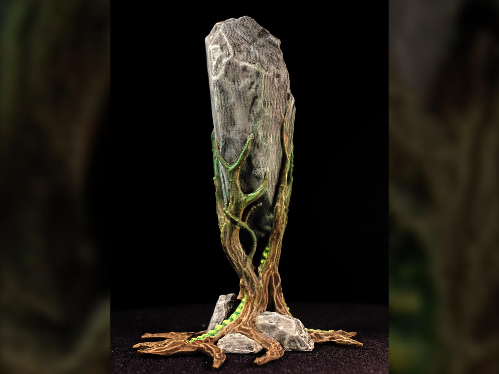 "rockclaw02.jpg Download free STL file Tabletop plant: ""Rock Claw 1"" (Alien Vegetation 18) • 3D print model, GrimGreeble"