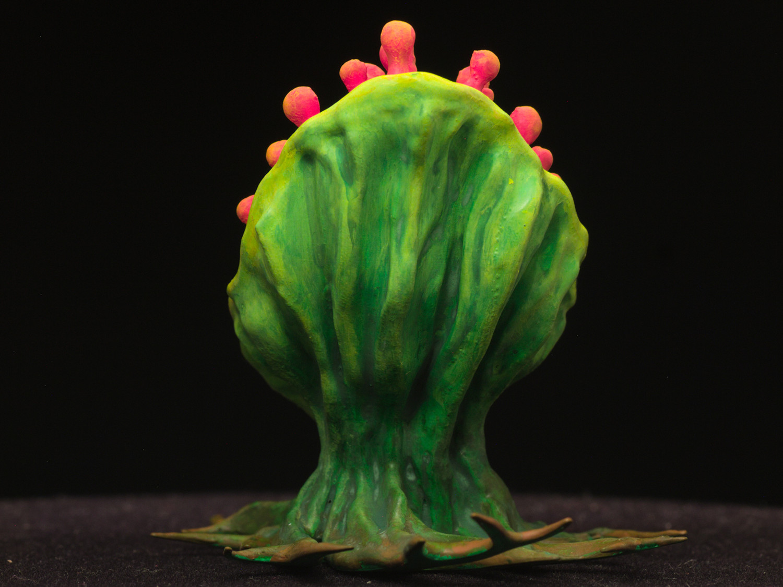 "tearingPlant05.jpg Download free STL file Tabletop plant: ""Tearing Plant"" (Alien Vegetation 14) • 3D print template, GrimGreeble"