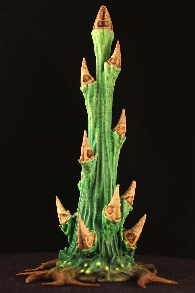 """wetland.jpg Download free STL file Tabletop plant: """"Rhododendron Nostril"""" (Alien Vegetation 26) • Design to 3D print, GrimGreeble"""