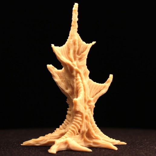 "webtree04.jpg Download free STL file Tabletop plant: ""Webbing Tree"" (Alien Vegetation 17) • 3D print template, GrimGreeble"