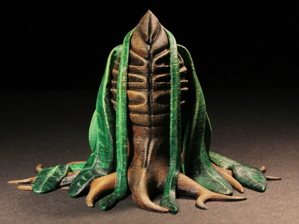 "4e70b6a58dfefb474a1d6cddd3ef9a4e_display_large.jpg Download free STL file Tabletop plant: Alien Vegetation 06 ""Welwitschia Ghost Plant"" • 3D printer model, GrimGreeble"