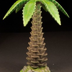 Download free 3D printing models Tabletop plant: Palm Tree (01), GrimGreeble
