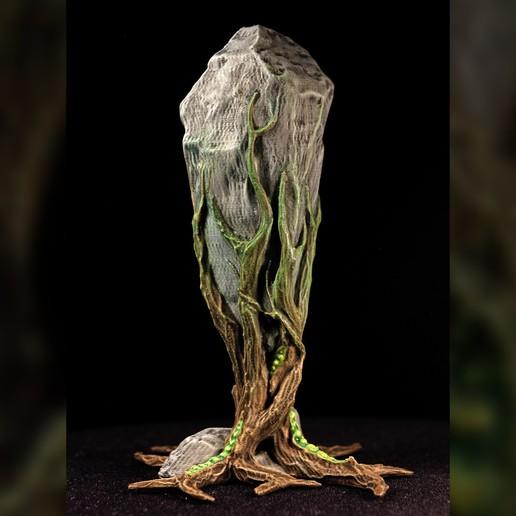 "rockclaw03.jpg Download free STL file Tabletop plant: ""Rock Claw 1"" (Alien Vegetation 18) • 3D print model, GrimGreeble"