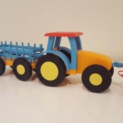 Descargar modelos 3D gratis Tractor de tracción de juguete, CreateAToy