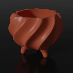 Download free 3D printing templates Spiral pot, Albano