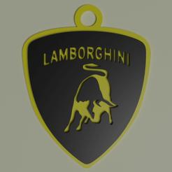 1.png Télécharger fichier STL Porte-clés Lamborghini • Modèle pour imprimante 3D, Albano
