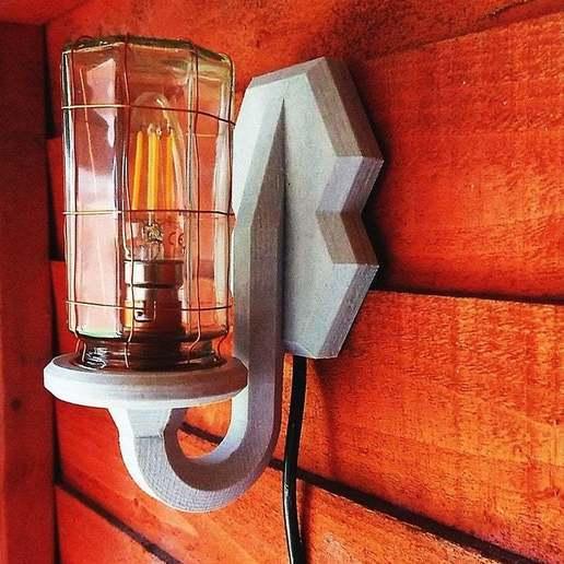 Télécharger fichier impression 3D gratuit Lampe industrielle à bocal, poblocki1982