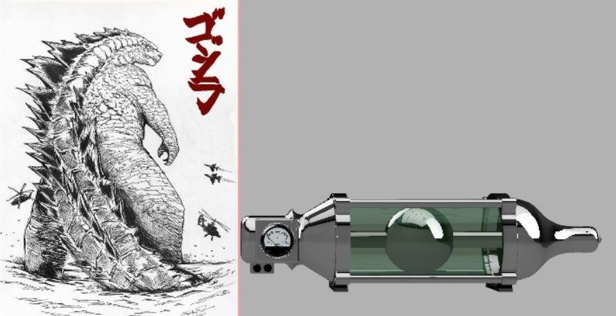 927c22d53be4c1e95520e5fa4027810e_display_large.jpg Download free STL file Oxygen destroyer (Godzilla) • Template to 3D print, poblocki1982