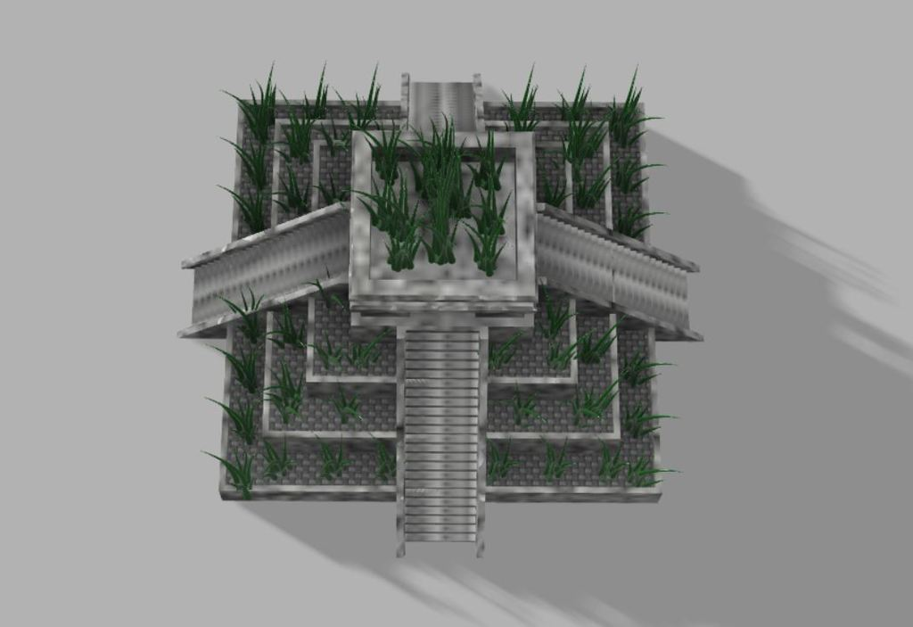 Capture2.JPG Download free STL file Aztec temple plant pot • 3D printable design, poblocki1982