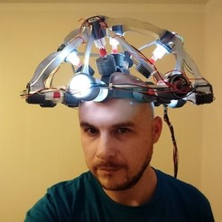 Free 3D printing designs Back to the future mind reading helmet, poblocki1982
