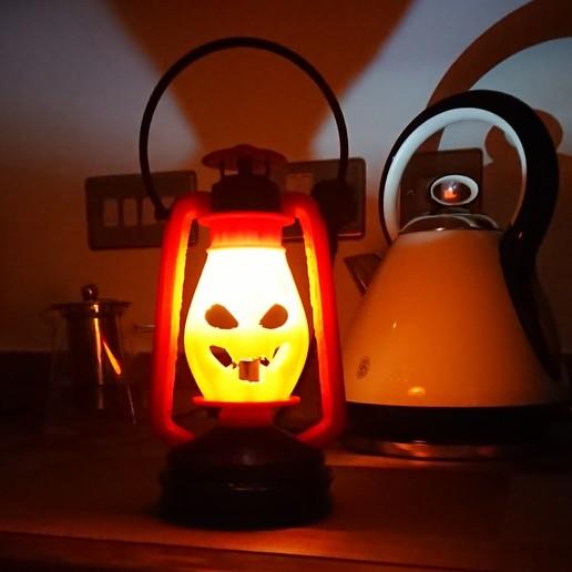 Download free 3D printer designs Kerosene Lamp Halloween version, poblocki1982