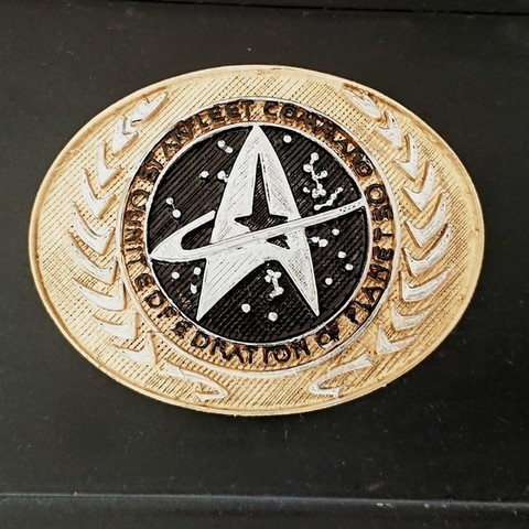Download free 3D printer templates Star Trek Belt Buckle, poblocki1982