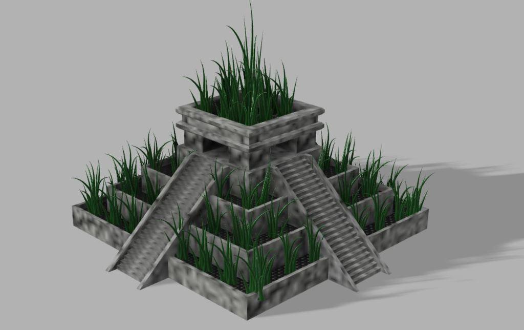 Capture.JPG Download free STL file Aztec temple plant pot • 3D printable design, poblocki1982