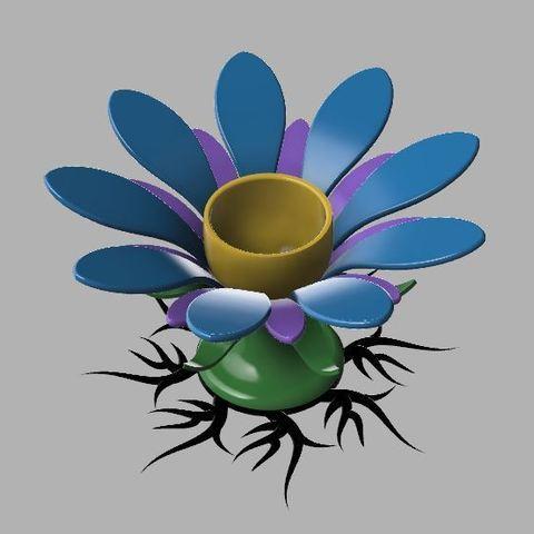 Free 3D model Flower egg holder, poblocki1982