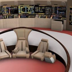 Capture2.JPG Download free STL file Star Trek TNG bridge • 3D printer design, poblocki1982