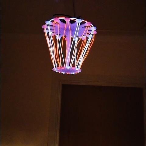 Download free 3D printing files EL wire chandelier / lamp, poblocki1982