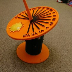 Download free 3D printing templates Self calibrating sundial, poblocki1982
